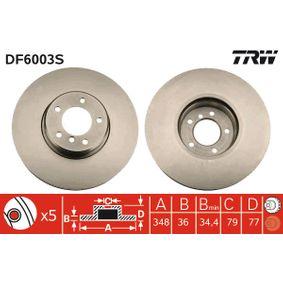 Bremsscheibe Bremsscheibendicke: 36mm, Lochanzahl: 5, Ø: 348mm mit OEM-Nummer 34 11 6 779 467