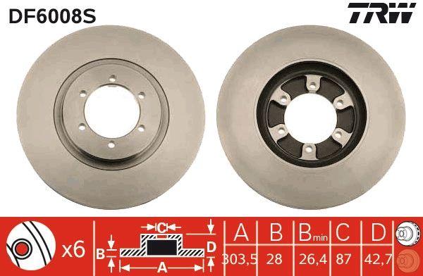 Bremsscheiben DF6008S TRW DF6008S in Original Qualität