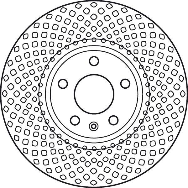 TRW  DF6015S Bremsscheibe Bremsscheibendicke: 30mm, Lochanzahl: 5, Ø: 320mm