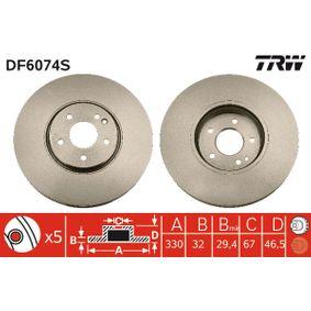 Bremsscheibe Bremsscheibendicke: 32mm, Lochanzahl: 5, Ø: 330mm mit OEM-Nummer 210 421 2312