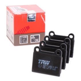 TRW Bremsbelagsatz, Scheibenbremse GDB101 für MERCEDES-BENZ S-CLASS (W116) 280 SE,SEL (116.024) ab Baujahr 08.1972, 185 PS