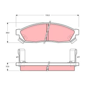 Bremsbelagsatz, Scheibenbremse Art. Nr. GDB1038 120,00€