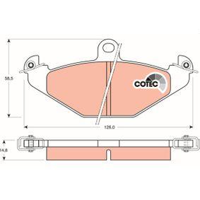 Bremsbelagsatz, Scheibenbremse Höhe: 58,5mm, Dicke/Stärke: 14,8mm mit OEM-Nummer 7701203 124