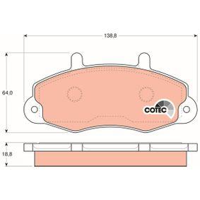 Joint de turbocompresseur FORD TRANSIT MK-4 Camionnette (E_ _) 2.5 TD (EAS, EAL) de Année 05.1991 101 CH: Jeu de plaquettes de frein, frein à disque (GDB1084) pour des TRW