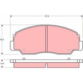 TRW  GDB1134 Bremsbelagsatz, Scheibenbremse Höhe: 52,2mm, Dicke/Stärke: 14mm