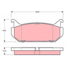 Bremsbelagsatz, Scheibenbremse Höhe: 43,5mm, Dicke/Stärke: 14mm mit OEM-Nummer G5Y5-2643Z
