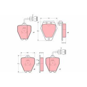 Bremsbelagsatz, Scheibenbremse Art. Nr. GDB1162 120,00€