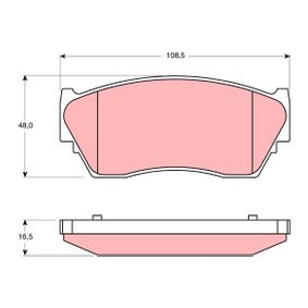 Bremsbelagsatz, Scheibenbremse Höhe: 48mm, Dicke/Stärke: 16,5mm mit OEM-Nummer 41060 62C90
