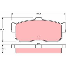Bremsbelagsatz, Scheibenbremse Höhe: 46,8mm, Dicke/Stärke: 16,3mm mit OEM-Nummer 44060-5M490
