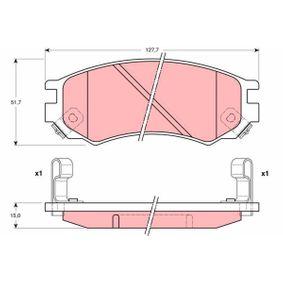 Bremsbelagsatz, Scheibenbremse Höhe: 51,7mm, Dicke/Stärke: 15mm mit OEM-Nummer D10600N685