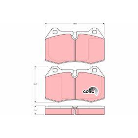 Bremsbelagsatz, Scheibenbremse Art. Nr. GDB1269 120,00€