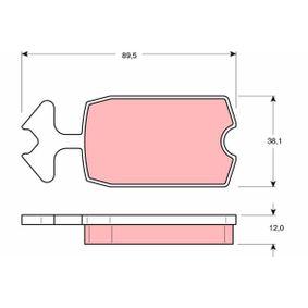 Bremsbelagsatz, Scheibenbremse Art. Nr. GDB127 120,00€