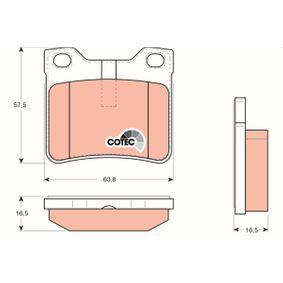 Bremsbelagsatz, Scheibenbremse Art. Nr. GDB1276 120,00€