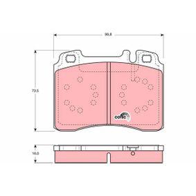 Bremsbelagsatz, Scheibenbremse Art. Nr. GDB1318 120,00€
