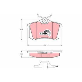 Jogo de pastilhas para travão de disco Altura: 52,9mm, Espessura: 17,0mm com códigos OEM 7354162