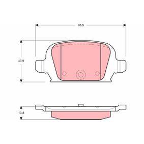 Bremsbelagsatz, Scheibenbremse Höhe: 43,9mm, Dicke/Stärke: 13,8mm mit OEM-Nummer 92 00 132
