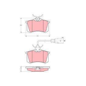 Bremsbelagsatz, Scheibenbremse Höhe: 52,9mm, Dicke/Stärke: 17mm mit OEM-Nummer 8D0 698 451B