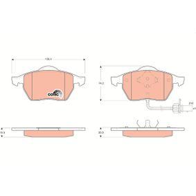 Bremsbelagsatz, Scheibenbremse Höhe: 74,2mm, Dicke/Stärke 1: 20,3mm, Dicke/Stärke 2: 19,5mm mit OEM-Nummer 1143349