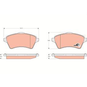 Bremsbelagsatz, Scheibenbremse Höhe: 62,0mm, Dicke/Stärke: 18,2mm mit OEM-Nummer 236.15