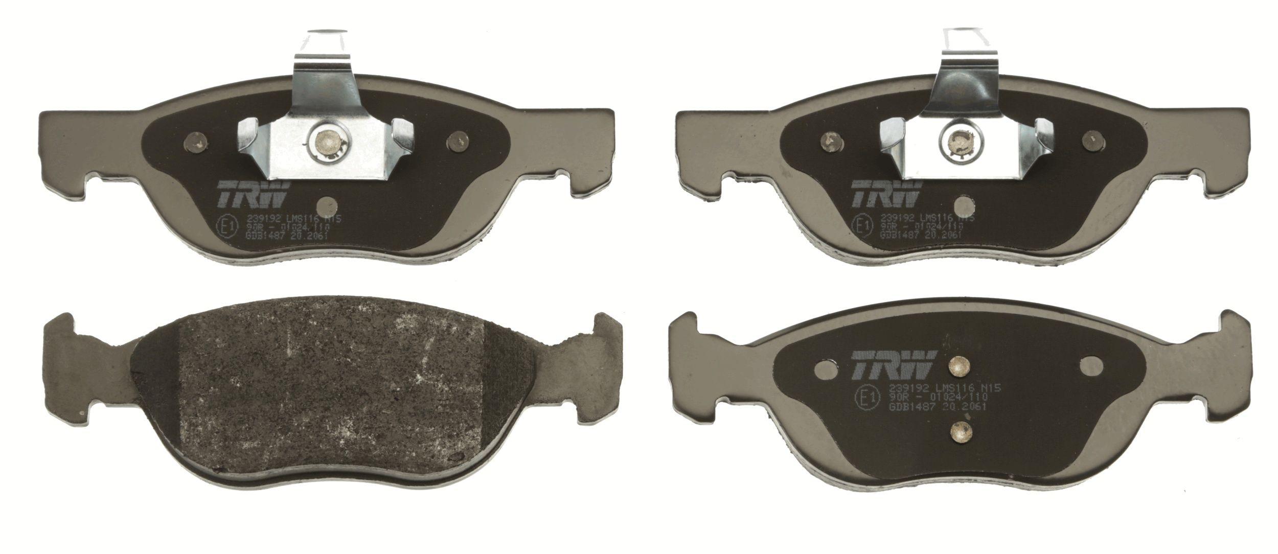Disk brake pads TRW 21927 rating