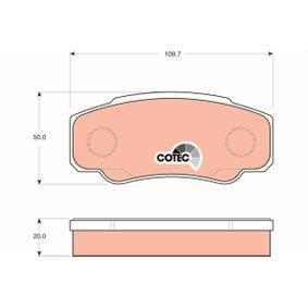 Bremsbelagsatz, Scheibenbremse Höhe: 50mm, Dicke/Stärke: 20mm mit OEM-Nummer 4254-68