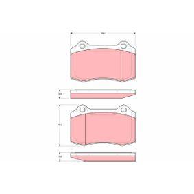 Bremsbelagsatz, Scheibenbremse Höhe: 69,3mm, Dicke/Stärke: 14,8mm mit OEM-Nummer MXD-2750-AA