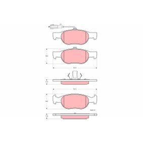 Bremsbelagsatz, Scheibenbremse Höhe: 52mm, Dicke/Stärke: 17,6mm mit OEM-Nummer 9 947 600