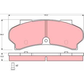 Brake Pad Set, disc brake Article № GDB164 £ 140,00