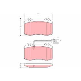 TRW  GDB1644 Bremsbelagsatz, Scheibenbremse Höhe: 69,3mm, Dicke/Stärke: 14,8mm
