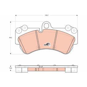 Set placute frana, frana disc GDB1720 Touareg (7LA, 7L6, 7L7) 5.0 V10 TDI a.f. 2006