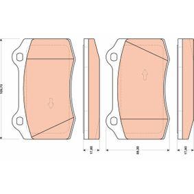 Bremsbelagsatz, Scheibenbremse Höhe: 69,3mm, Dicke/Stärke: 17,8mm mit OEM-Nummer 1 329 156