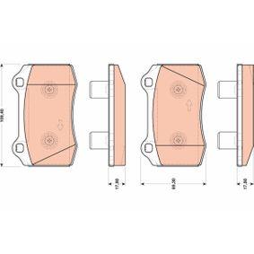 Bremsbelagsatz, Scheibenbremse Höhe: 69,3mm, Dicke/Stärke: 17,8mm mit OEM-Nummer 1 230 732