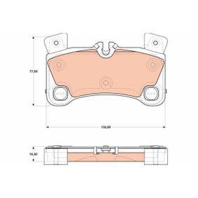 Bremsbelagsatz, Scheibenbremse Höhe: 77,0mm, Dicke/Stärke: 16,2mm mit OEM-Nummer 955.352.939.61