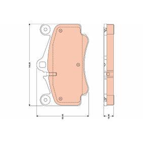 Bremsbelagsatz, Scheibenbremse Höhe: 89,0mm, Dicke/Stärke: 16,8mm mit OEM-Nummer 996 351 949 12