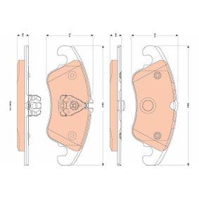 Bremsbelagsatz, Scheibenbremse Höhe 1: 72,97mm, Höhe 2: 73,57mm, Dicke/Stärke: 18,0mm mit OEM-Nummer 1567730