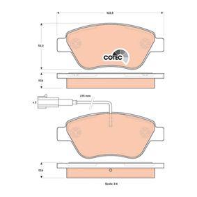 Bremsbelagsatz, Scheibenbremse Höhe: 53,3mm, Dicke/Stärke: 17,8mm mit OEM-Nummer 7 736 546 5