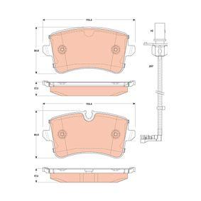 Bremsbelagsatz, Scheibenbremse Höhe 1: 58,8mm, Höhe 2: 60,0mm, Dicke/Stärke: 17,3mm mit OEM-Nummer 4H0.698.451A