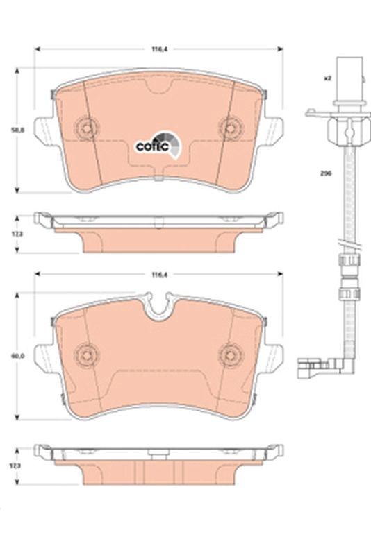 Bremsbeläge GDB1867 TRW 24606 in Original Qualität