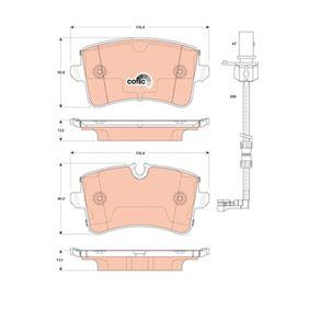 Bremsbelagsatz, Scheibenbremse Höhe 1: 58,8mm, Höhe 2: 60,0mm, Dicke/Stärke: 17,3mm mit OEM-Nummer 4H0 698 451 D