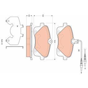 Bremsbelagsatz, Scheibenbremse Höhe: 66,8mm, Dicke/Stärke: 19,5mm mit OEM-Nummer 4254 78