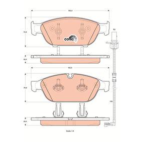 Brake Pad Set, disc brake Article № GDB1897 £ 140,00