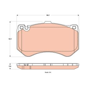 Brake Pad Set, disc brake GDB1907 E-Class Saloon (W212) E 63 AMG 5.5 (212.074) MY 2012