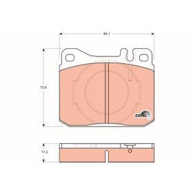 Bremsbelagsatz, Scheibenbremse Höhe: 73,8mm, Dicke/Stärke: 17,5mm mit OEM-Nummer A0014207520