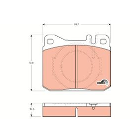 Bremsbelagsatz, Scheibenbremse Art. Nr. GDB264 120,00€