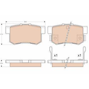 Brake Pad Set, disc brake GDB3175 CIVIC 7 Hatchback (EU, EP, EV) 1.7 CTDi MY 2003