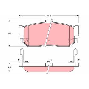 Bremsbelagsatz, Scheibenbremse Höhe: 46,8mm, Dicke/Stärke: 16,3mm mit OEM-Nummer 4406073C91