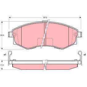 Bremsbelagsatz, Scheibenbremse Höhe: 52,9mm, Dicke/Stärke: 17,5mm mit OEM-Nummer 5810134A21