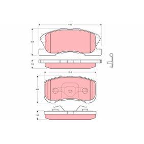 Bremsbelagsatz, Scheibenbremse GDB3220 Cuore 6 (L251, L250_, L260_) 0.7 Turbo Avy Allrad Bj 2014