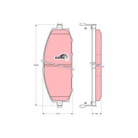 Bremsbelagsatz, Scheibenbremse Art. Nr. GDB3222 120,00€