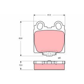 TRW  GDB3233 Bremsbelagsatz, Scheibenbremse Höhe: 63,8mm, Dicke/Stärke: 15,5mm